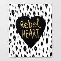 Rebel Heart Canvas Print
