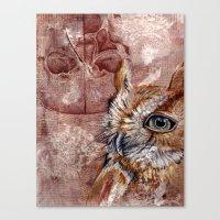 Human Owl Canvas Print