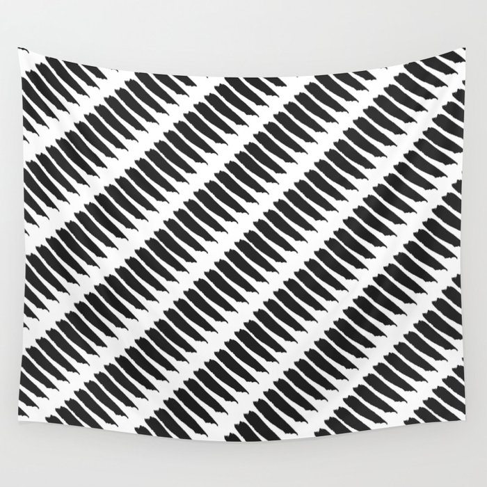 Black and white tiger stripes wall tapestry by pencil me - Tiger stripes black and white ...