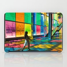 Stepping into a rainbow iPad Case
