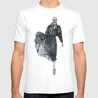 Leather & Ballet Skeleto… Mens Fitted Tee White SMALL