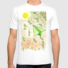 The Life Circulation of the Egg SMALL White Mens Fitted Tee