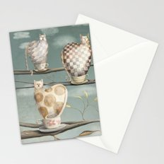Cats in Cups Stationery Cards
