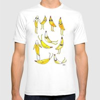 BANANAS Mens Fitted Tee White SMALL