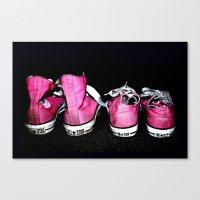 Pink Shoes Canvas Print