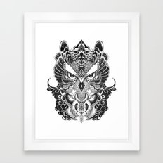 Owl and Dragon Framed Art Print