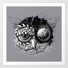 Owl Day & Owl Night Art Print