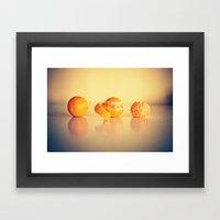 Fruit Orange Clementines Framed Art Print
