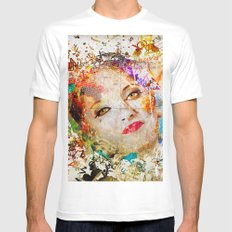 Retro Woman Mens Fitted Tee SMALL White
