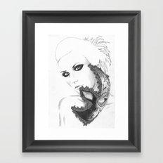 Mask girl Framed Art Print