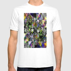 Textured Chaos - Abstract, textured artwork Mens Fitted Tee White SMALL