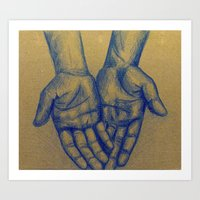 My Hands Art Print
