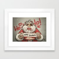 Busted Xmas Framed Art Print