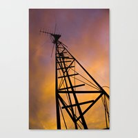 The Old Radio Tower At S… Canvas Print