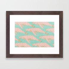 The Chevron Whales Framed Art Print