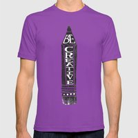 BE CREATIVE Mens Fitted Tee Ultraviolet SMALL