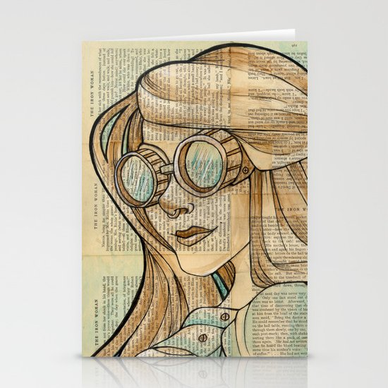 Iron Woman 1 Stationery Card