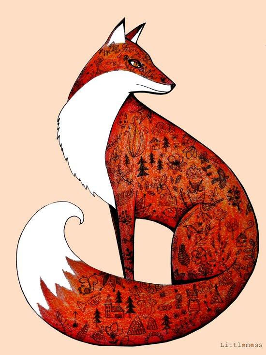 My neighbour the fox Art Print