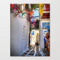 Greece Santorini Island Canvas Print