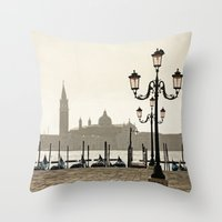 Sunny Morning at San Marco Throw Pillow