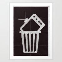 Goodbye TV Art Print