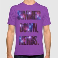 SIMMER DOWN, NERDS. Mens Fitted Tee Ultraviolet SMALL