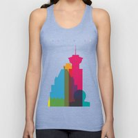 Shapes of Vancouver. Accurate to scale. Unisex Tank Top