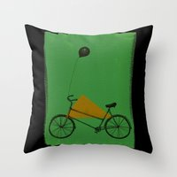 Confidant II. (bicycle) Throw Pillow