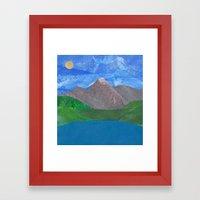 Swiss Mountain Framed Art Print