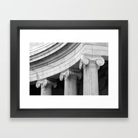 Classical Marble Columns… Framed Art Print