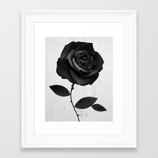 Fabric Rose Framed Art Print