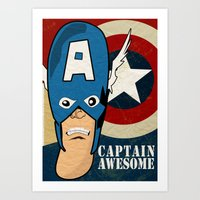 Captain Awesome Art Print