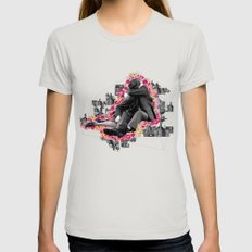 LOVER Womens Fitted Tee Silver SMALL