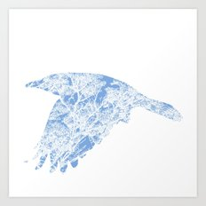 The Blue Rook Art Print
