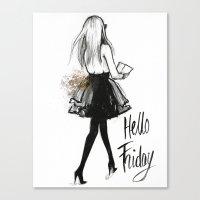 Hello Friday Canvas Print