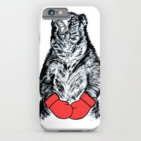 iPhone & iPod Case featuring Boxing Bear by JRSutton