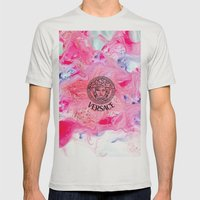 Versace Medusa  Mens Fitted Tee Silver SMALL