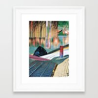 The Melting Wall (2) Framed Art Print