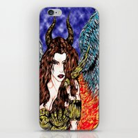 angel or demon in color iPhone & iPod Skin