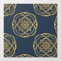 Nights in Blue and Gold Canvas Print