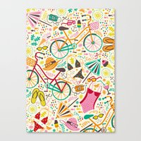 Seaside Cycle Canvas Print