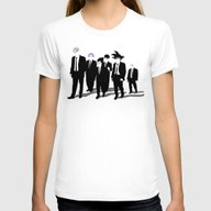 Reservoir Warriors Womens Fitted Tee White LARGE