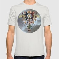 Caduceus Mens Fitted Tee Silver SMALL