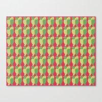GREEN/LEMON BIRDS Canvas Print