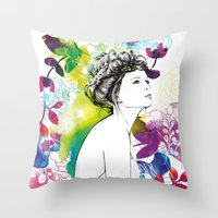 Bella Fashion Watercolor… Throw Pillow