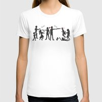 Zombie Hunting II Womens Fitted Tee White SMALL