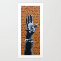 red. Art Print