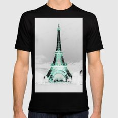 pariS Black & White + Mint Mens Fitted Tee SMALL Black