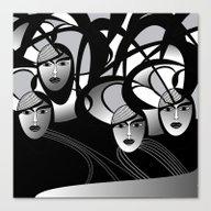 Oriental Women Canvas Print