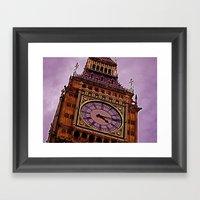 Big Ben in Purple Framed Art Print